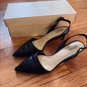 Michael Kors Claudia Sling Back Pointed Toe Heels